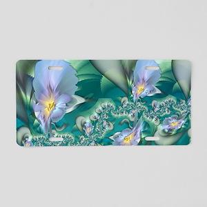 Blue Irises Aluminum License Plate