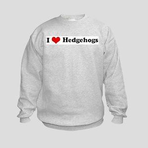 I Love Hedgehogs Kids Sweatshirt
