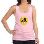 Personalized Softball Racerback Tank Top