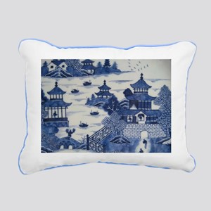 PORCELAIN CHINA ANTIQUE Rectangular Canvas Pillow