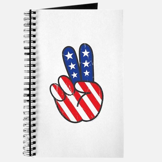 Peace USA Flag VINTAG Journal