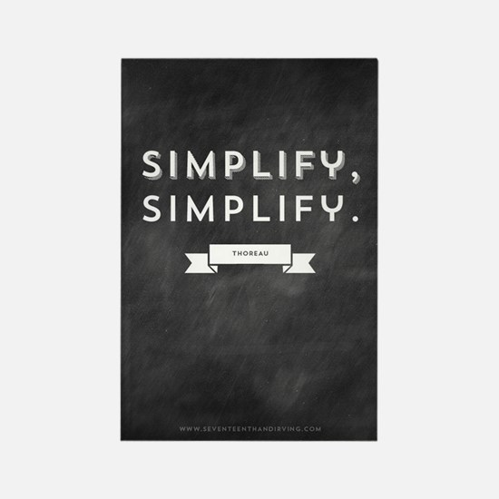 Simplify Life Rectangle Magnet