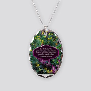 GALATIANS 5 Necklace Oval Charm