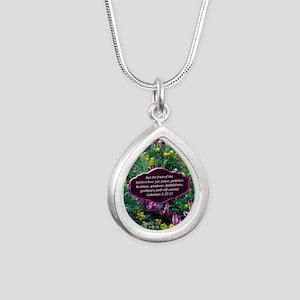 GALATIANS 5 Silver Teardrop Necklace