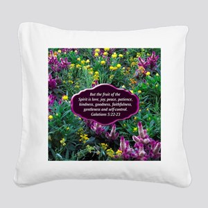 GALATIANS 5 Square Canvas Pillow