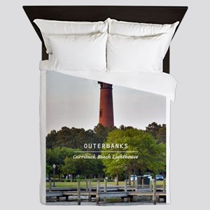 Currituck Beach Lighthouse Queen Duvet