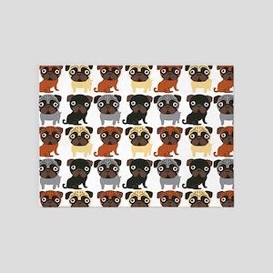 Just Pugs! 5'x7'Area Rug