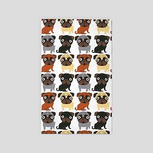Just Pugs! 3'x5' Area Rug