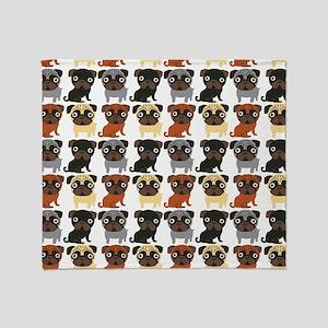 Just Pugs! Throw Blanket