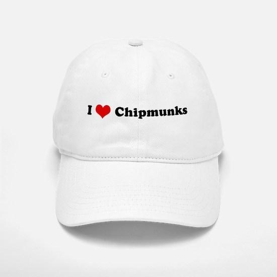 I Love Chipmunks Baseball Baseball Cap