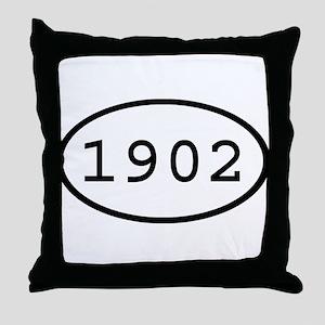 1902 Oval Throw Pillow