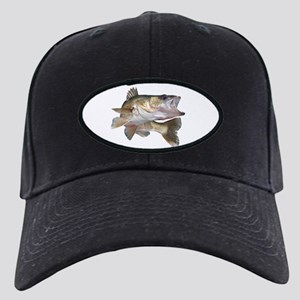 Walleye Baseball Hat Black Cap With Patch