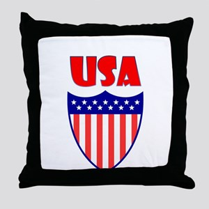 USA Crest Throw Pillow