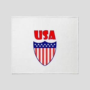 USA Crest Throw Blanket