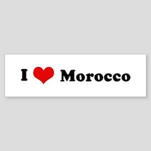 I Love Morocco Bumper Sticker