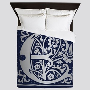Romanesque Monogram E Queen Duvet