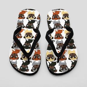 Just Pugs! Flip Flops