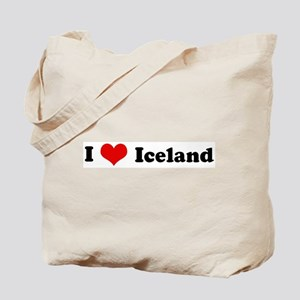 I Love Iceland Tote Bag