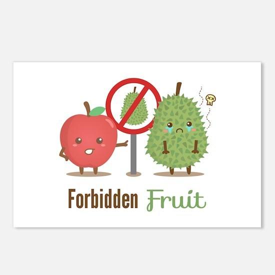 Forbidden-Fruit-Durian-ver3 Postcards (Package of