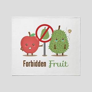 Forbidden-Fruit-Durian-ver3 Throw Blanket