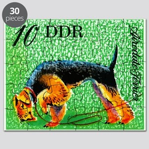 1976 Germany Airedale Terrier Postage Stamp Puzzle