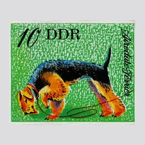 1976 Germany Airedale Terrier Postage Stamp Throw