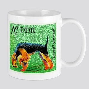 1976 Germany Airedale Terrier Postage Stamp Mugs