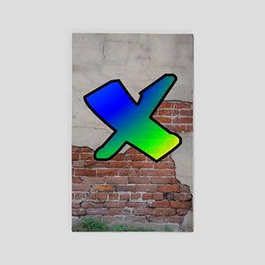GRAFFITI #1 X 3'x5' Area Rug