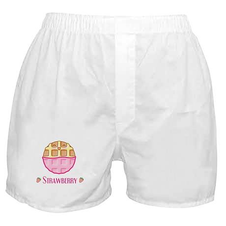 Strawberry Waffle Boxer Shorts