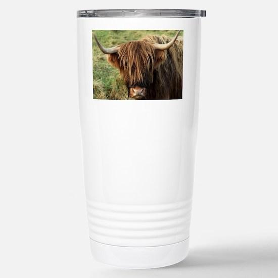 Highland Cow Stainless Steel Travel Mug