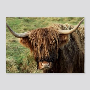 Highland Cow 5'x7'Area Rug