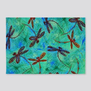 Dragonfly Dance 5'x7'Area Rug
