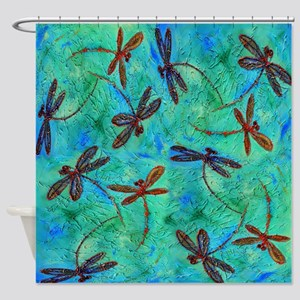Dragonfly Dance Shower Curtain