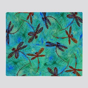 Dragonfly Dance Throw Blanket