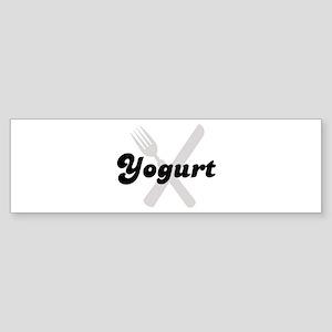 Yogurt (fork and knife) Bumper Sticker