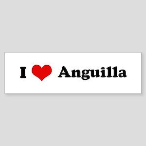 I Love Anguilla Bumper Sticker