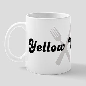 Yellow Corn (fork and knife) Mug