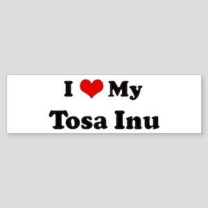 I Love Tosa Inu Bumper Sticker