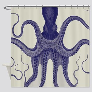 Antique Vintage Octopus Shower Curtain