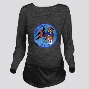 3-vf32logo Long Sleeve Maternity T-Shirt