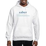 Saber Fencing Definition Hooded Sweatshirt