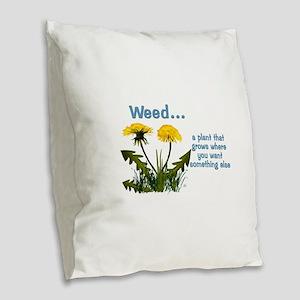 Dandelions Weed Burlap Throw Pillow