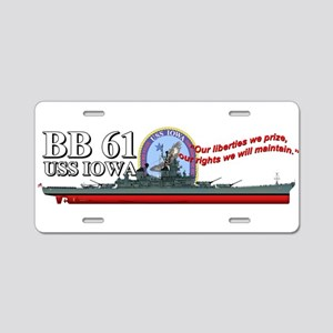 Uss Iowa Bb-61 Aluminum License Plate