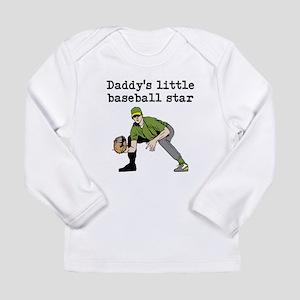 Daddys Little Baseball Star Long Sleeve T-Shirt