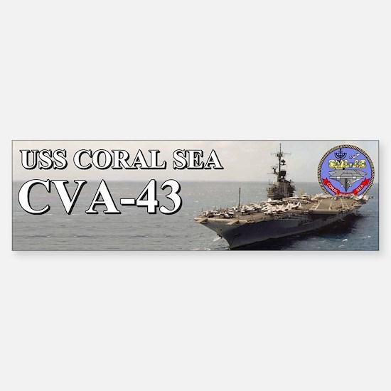 Uss Coral Sea Cva-43 Bumper Bumper Bumper Sticker