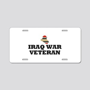 Iraq War Veteran Aluminum License Plate