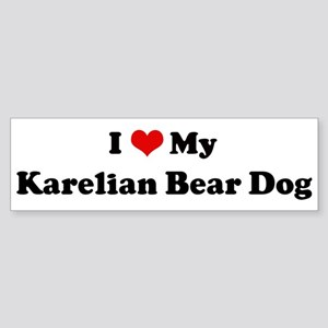 I Love Karelian Bear Dog Bumper Sticker