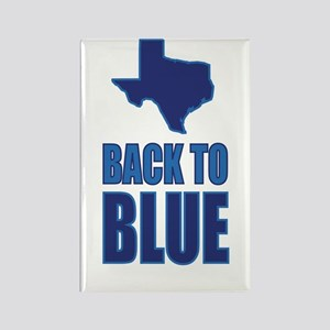 Texas: Back to Blue Rectangle Magnet