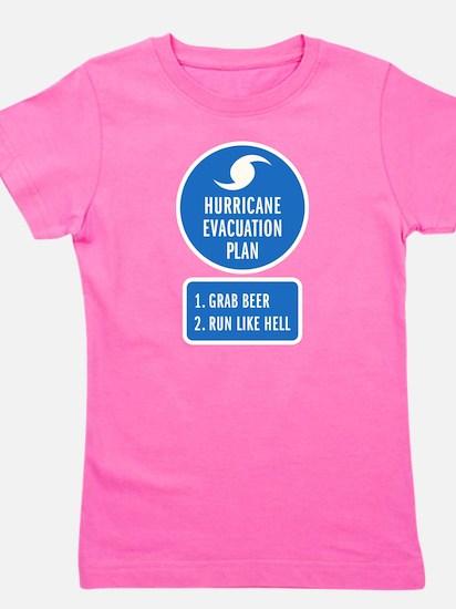 Hurricane Evacuation Plan.png Girl's Tee