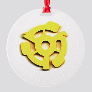 45 rpm insert Round Ornament